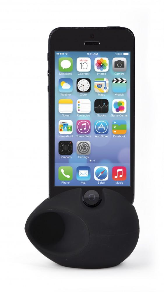 Silicone phone speaker
